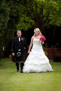 Kerry & George's wedding, Castlecary Hotel and Gardens